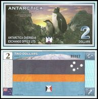 Antarctica - 2 Dollars 1999 UNC Lemberg-Zp - Billets