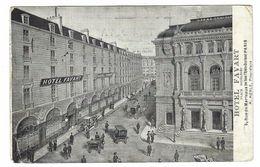 CLA085 - PARIGI PARIS HOTEL FAVART PLACE BOIEDIEU OPERA COMIQUE ANIME ANIMATA 1912 - Pubs, Hotels, Restaurants