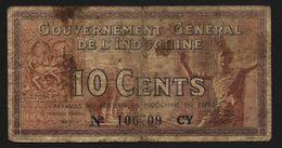 "10 Cents  ""INDOCHINE""  éléphants  Ro33 - Indochine"