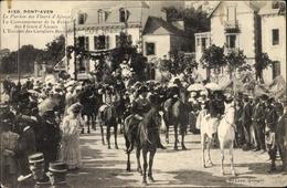 Cp Pont Aven Finistère, Le Pardon De Fleurs D'Ajoues, Couronnement De La Reine - Holidays & Celebrations