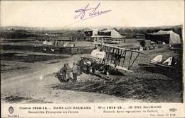 Cp Dans Les Balkans, Escadrille Francaise En Orient, Französisches Fluglager, I. WK - Vliegtuigen