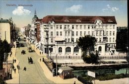 Cp Gliwice Gleiwitz Schlesien, Wilhelmstraße, Brücke - Schlesien