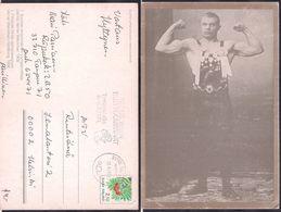 Finlandia - Carte Postale - Verner Weckman Médaille D'or En Lutte Londres 1908 - 1991 - Circulee - Cygnus - Wrestling
