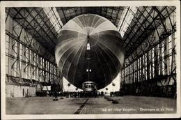 Cp LZ 127 Graf Zeppelin, Einbringen In Die Halle - Non Classés