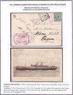 """VAPORI """"TOMASO DI SAVOIA"""". COMPANIA LLOYD SABAUDO LINE. PIROSCAFO NAVE BARCO BATEAU BOAT. LOTE CPA CIRCA 1925's -LILHU - Embarcaciones"""