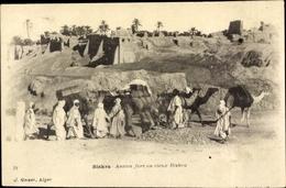 Cp Biskra Algerien, Ancien Fort Au Rieux Biskra - Algiers