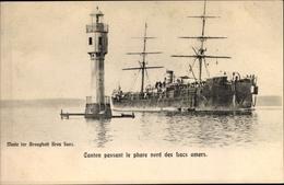 Cp Suez Ägypten, Canton Passant Le Phare Nord Des Isacs Amers - Ansichtskarten