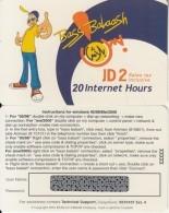 JORDAN - Bass Balaash, Batelco(Jordan) Internet Prepaid Card JD 2(20 Hours), Sample - Jordania
