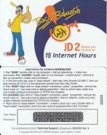 JORDAN - Bass Balaash, Batelco(Jordan) Internet Prepaid Card JD 2(15 Hours), Sample - Jordania