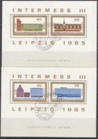 DDR  Block 23+24, Gestempelt, INTERMESS III, 1965 - Blocks & Sheetlets