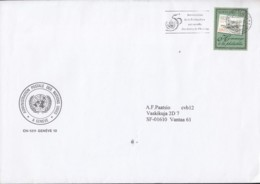 UNO GENF 320, EF, Dienstbrief, Gestempelt: Genf 4.2.1999 - Genf - Büro Der Vereinten Nationen