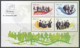 IRLAND  Block 62 I, Postfrisch **, Irische Musikgruppen, Mit Zudruck: BELGICA '06 2006 (Nominale 2,46 Euro) - Blocks & Sheetlets