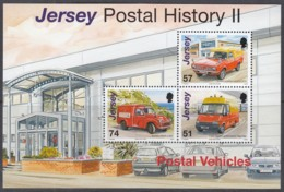 JERSEY  Block 59, Postfrisch **, Geschichte Der Post (II): Transportfahrzeuge, 2006 - Jersey