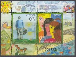 MONTENEGRO  Block 5, Postfrisch **, Europa: Integration, 2006 (Nominale 1,50 Euro) - Montenegro