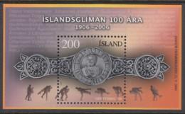 ISLAND   Block 41, Postfrisch **, Tag Der Briefmarke - 100 Jahre Isländischer Ringkampf, 2006 - Blocs-feuillets