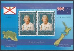 JERSEY Block 56 B, Mit Marke Von Neuseeland, Postfrisch **, 80. Geburtstag Von Königin Elisabeth II., 2006 - Jersey