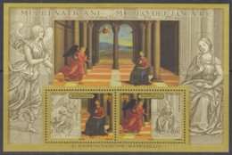 VATIKAN Block 26, Postfrisch **, Mariä Verkündigung; Zeichnung Und Gemälde Von Raffael, 2005 (Nominale 2,80 Euro) - Blocs & Feuillets