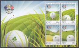 IRLAND, Block 60, Postfrisch **, Golfturnier Um Den Ryder Cup, Straffan, 2006 (Nominale 1,92 Euro) - Blocks & Sheetlets