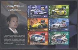 GUERNSEY  Block 42, Postfrisch **, Automobilrennfahrer Andy Priaulx, 2006 - Guernesey