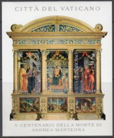 VATIKAN  Block 27, Postfrisch **, 500. Todestag Von Andrea Mantegna, 2006 (Nominale 2,80 Euro) - Blocs & Feuillets