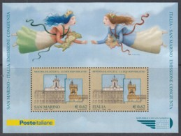 """SAN MARINO  Block 37, GemAusg. Mit Italien, Postfrisch **, Briefmarkenausstellung """"Die Zwei Republiken"""", 2006 - Blocs-feuillets"""