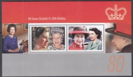 GIBRALTAR  Block 71, Postfrisch **, 80. Geburtstag Von Königin Elisabeth II., 2006 - Gibraltar