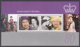 GIBRALTAR  Block 72, Postfrisch **, 80. Geburtstag Von Königin Elisabeth II., 2006 - Gibraltar