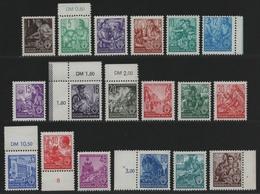 DDR 1953 - Mi-Nr. 362-379 ** - MNH - Mit Herstellungsbedingten Kalanderbügen - Unused Stamps