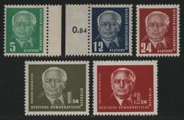 DDR 1952 - Mi-Nr. 322-326 ** - MNH - Pieck II - [6] République Démocratique