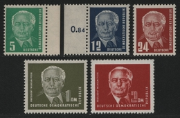 DDR 1952 - Mi-Nr. 322-326 ** - MNH - Pieck II - Unused Stamps