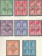 SCHWEIZ  696-713 X, 4erBlock, Gestempelt,  Postgeschichtliche Motive Und Baudenkmäler 1960 - Oblitérés