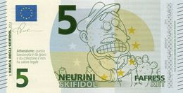 EURO-5 NEURINI-SKIFIDOL-2014 EMISSIONI DI  FANTASIA-UNC- Fantasy Issue - EURO