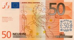 EURO-50 NEURINI-SKIFIDOL-2014 EMISSIONI DI  FANTASIA-UNC- Fantasy Issue - EURO