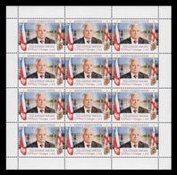 Georgia 2020 Mih. 743 President Of Poland Lech Kaczynski (M/S) MNH ** - Géorgie