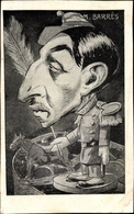 Artiste Cp Maurice Barrès Als Zinnsoldat, Karikatur, Dreyfus Affäre - Métiers