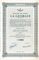 Titre Ancien - Filature De Coton La Géorgie Société Anonyme - Titre De 1952 - - Textile