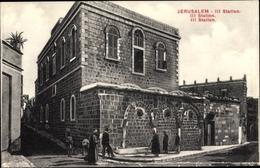 Cp Jerusalem Israel, Kreuzweg III. Station, Gebäude - Israel