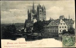 Cp Limburg An Der Lahn Hessen, Uferpartie, Dom, Wohnhäuser - Deutschland