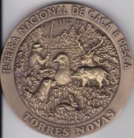 Portugal -Torres Novas Medalha  Caça E Pesca Março 1992 - Pesca