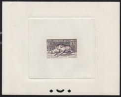 SOMALI COAST (1958) Warthog. Sepia Printer's Proof. Scott No 271, Yvert No 287. Not Easy To Find! - Non Classés