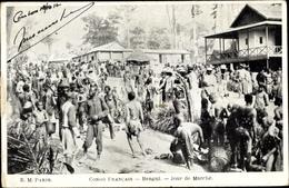 Cp Bangui Franz. Kongo, Jour De Marche - Afrique Du Sud
