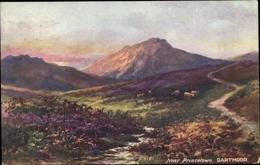 Artiste Cp Dartmoor Devon England, Landschaft, Schafe, Tuck 7948 - Angleterre