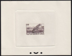 SOMALI COAST (1958) Cheetah. Sepia Printer's Proof. Scott No 272, Yvert No 288. Very Rare! - Non Classés