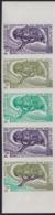 SOMALI COAST (1962) Dragon Tree. Trial Color Proofs In Strip Of 5 With Multicolor. Scott No 287, Yvert No 305. - Non Classés