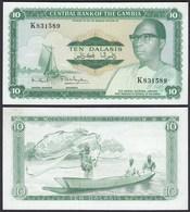 Gambia 10 Dalasi Banknote ND (1972-86) Pick 6c UNC (1) Sig 7 (25334 - Billets