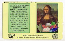 JAPON TELECARTE SANTE LA JOCONDE Who Collaborating Center Recherche Sur La Prévention Des Maladies Cardiovasculaire - Telefonkarten