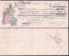 España - Sevilla - Pagaré - Banco Hispano Americano - 1935 - Cygnus - Espagne