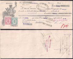 España - Barcelona - Pagaré - Banco Exterior De España - 1935 - Cygnus - Espagne