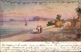Artiste Cp Terni Umbria, Alterocca, Strandpartie, Segelboot, Fuhre - Italia