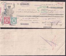 España - Barcelona - Pagaré - Banco Hispano Americano - 1935 - Cygnus - Espagne